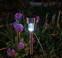 Wholesale Outdoor Stainless Steel Solar Power Color Changing LED Garden Landscape Path Pathway Lights Lawn Lamp Rainbow Color Light