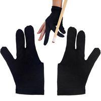 Wholesale 5pcs Cue Billiard Pool Shooters Fingers Gloves Black for Billiard