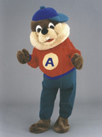 ace fancy dress - Ohlees Ace Beaver cartoon Mascot costumes for Halloween xmas party activity Fancy dress advertise adult size