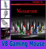 Wholesale Imice Gaming mouse V8 latest e sports macro definition the macro program usb Wired mouse game for PC Laptop with Retail Package New