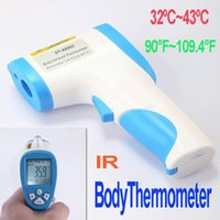 Wholesale Hot Sale High Precise Non Contact Digital Infrared IR Laser Baby Forehead Surface Thermometer freeshipping wholesales free shipp