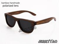 achat en gros de nouveaux designs faits main cadeaux-100% handmade natural bamboo sunglasses polarized eyeglasses bamboo wood sunglasses new fashion design uv400 protéger cadeau d'anniversaire