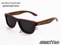 al por mayor gafas de sol de cumpleaños-Las gafas de sol de bambú naturales hechas a mano del 100% polarizaron las gafas de sol de madera de bambú de las lentes el nuevo diseño uv400 de la manera protege el regalo de cumpleaños