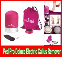 Wholesale 2015 Pedipro Deluxe Electric Callus Remover Sets For Skin Heels Toes Feet Care Electronic Personal Pedicure Bullet Pedipro