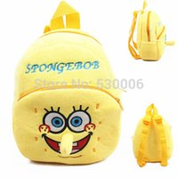 baby spongebob characters - 2015 New baby Boys Girls lovely cartoon character School bags children Spongebob design Mini backpack kids D mochila infantil
