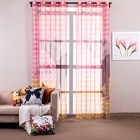 kitchen curtains - Curtains for The Bedroom Printed Elephant Window Screening Pink Yellow Kitchen Curtains Tull Curtain