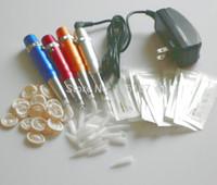 Wholesale Permanent Makeup Pen Power Supply Tattoo Machine Kit With Permanent Makeup Plastic Tips Nozzles Needles Kits