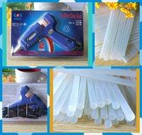 Wholesale Heating Hot Melt Glue Gun Adjust W Crafts Album Repair With indicator mm Transparent Green nontoxic Glue Stick