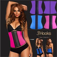 Cheap XS-6XL Women Latex Rubber Waist Training Cincher Underbust Corset Body Shaper Shapewear 4colors