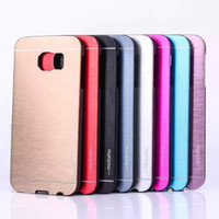 Wholesale Newest Motomo Luxury For Samsung Galaxy S6 Aluminum Metal Brushed Hard Case Cover