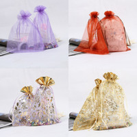 Wholesale 100pcs Organza Sheer Wedding Favor Candy Bag Jewelry Pouch For Festival Style Choose XC