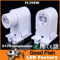 Wholesale T8 lamp holder T10 T12 led Tube Adaptor Lamp Holder UL CE approval T10 led fluorescent lamp holder R17D lamp holder