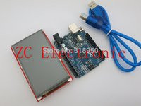 Wholesale 3 inch TFT LCD Touch Screen Display Module Uno r3 Development Board Compatible For Arduino UNO R3 USB Cable