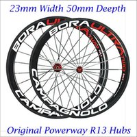 Wholesale 23mm Width Full Carbon Fiber Bicycle Wheelset Clincher Tubular C mm Depth Rims Black Spokes Bora Ultra Two Paintings K