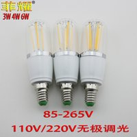 Wholesale The supply of LED filament lamp bulb screw E14 corn corn V V V dimming