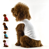 Wholesale Pet Dogs Solid Vest Spring T Shirts Vests Color White Black Red Pink B Coat Casual Cotton Outdoor Costumes Teddy Fashion Clothes