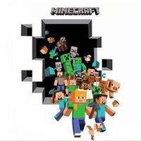 environmental paper - 2015 Minecraft JJ Creeper environmental children s room wall stickers Home decoration wallpaper sticker paper