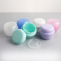 lip balm container - 10g Cosmetic Empty Jar Pot Eyeshadow Makeup Face Cream Lip Balm Container Bottle cosmetic bottle packaging