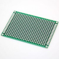 Wholesale New And Hot Double Sided Prototype PCB Tinned Universal Breadboard cmx7cm order lt no tracking