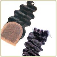 Cheap Best Brazilian Silk Base Closure 7A Human Hair Body Waves Silk Base Closure Bleached Knots new Silk Base Closure
