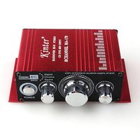 Wholesale Amplifier MA Mini Aluminum Alloy Channel W Hi Fi Stereo Home Car Amplifier Red DC V Handover Hi Fi Stereo CD DVD MP3 Input