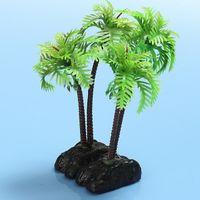 beautiful indoor plants - 2pcs Plastic Aquarium Plants Ornament Fish Tank Decoration Coconut Trees Beautiful Plant