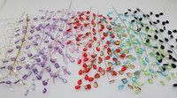 artificial tears - cm colors Artificial acrylic waterdrop crystal sprays crystal wreath tear chain wire stem for wedding favour