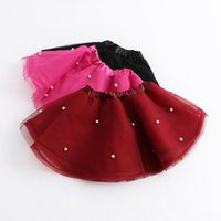 ruffle skirt - 2015 KidS Girls Princess Tutu Lace Skirts Pearl Rivet Mesh Design with Lining and Leather Edge Baby Girl Cute Party Pleated Ruffled Skirt