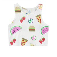 beauty delicious - Alisister sweet beauty delicious cake vest d sexy women harajuku crop tops fitting slim elastic cropped summer style tank top