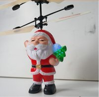 Wholesale New Product Santa Claus Toy Remote Control Helicopter Baby Toy Children Christmas Gift Toy