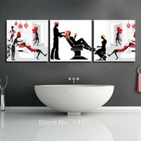barber pictures - 3 Panels Modern Wall Painting barber shop picture Home Decorative Art Picture Paint on Canvas Prints T