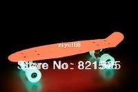 Wholesale quot Complete Plastic Mini Cruiser Skateboard Hover board Glow in the dark