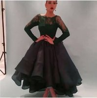 arabian pictures - 2015 Best Selling Dark Green Prom Dress Lace Long Sleeves Ball Gowns Puffy Princess Elegant Formal Evening dress for Saudi Arabian