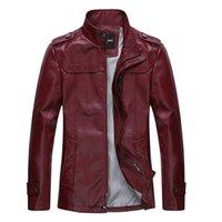 Wholesale 2014 Cotton Flax Korean male body repair men s leather jacket leather men leather wallet men kepi
