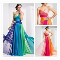 Wholesale In Stock Multi Colored Prom Dresses Sweetheart Peplum Lace Up Long Sheath Floor Length Gorgeous Formal Gowns Prom Dress F29