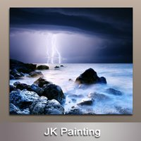 Wholesale Modern Seascape Painting Wall Art Canvas Picture Black White Wall Art Decor Canvas Painting Digital Painting Wall
