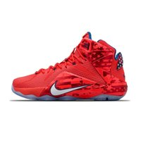 Wholesale New Nike LeBron USA quot Independence Day quot Lebron James Mens Basketball Shoes Limited Special Edition Sneakers