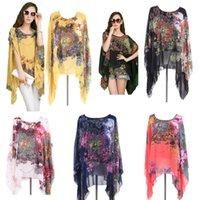 Wholesale IMVATION New Fashion High Quality Hot Sale Women Lace Vintage Retro Boho Cape Hippie Loose Casual Chiffon Top Kimono Coat Size XL