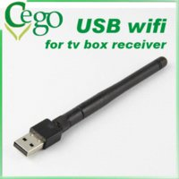Wholesale Satellite Receiver USB WiFi Wireless Network Card with Antenna LAN Adapter for dm800se dm800hd se card mobile