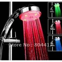 Wholesale New Water Temperature Control Sensor Glow Romantic Colors Light Bathroom LED Shower Head
