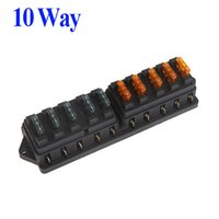 Wholesale Hot Sale Universal Car Truck Vehicle Way Circuit Automotive Middle sized Blade Fuse Box Block Holder drop shipping free shipp