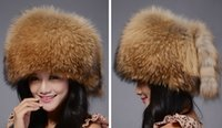 Wholesale Mink fox fur hat straw hat children money in the winter of Baotou cap new leather tab