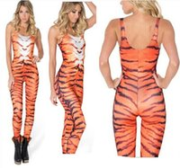 overalls - New Bandage Women Print Tiger stripes Outfits Sexy Party Jumpsuit Rompers Girl Bodysuit Skinny Vintage Overalls Playsuits new arrive