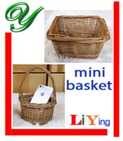 wire basket - Wedding flower basket small wcker storage baskets with handles picnic basket zakka wire basket fruit basket decoration hanging easter basket