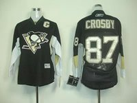 Wholesale Youth Nhl Jersey Sidney Crosby Kids Authentic Home black Jersey