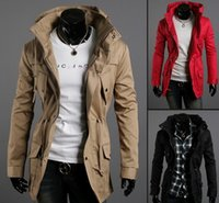 Wholesale 2016 new fashion mens autumn slim fit overcoat men s jackets coat men trench coats JK01