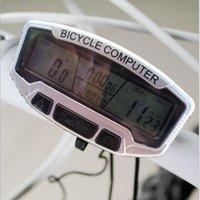 Wholesale Bicycle Stopwatch Waterproof LCD Display Cycling Bike Computer Odometer Speedometer With Blue Backlight Bike Code Table Bike Computers