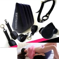 Cheap Wholesale-TOUGHAGE 7 PCS Sex Furniture Sofa Chair for Sex Inflatable Pillow Handcuffs Mask Gag Bondage Adult Games Sex Toys for Couples