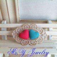 Cheap Barrettes & Clips couple hair grip Best Women's Gift bridal hair wear