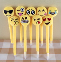 Wholesale 100pcs cm Emoji Plush Pens Cute Emoji Amusement Toys Lovely gifts for Girls Children Cute Prmotion Gifts EMJ012